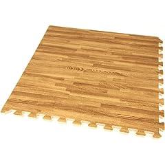 IncStores - 5 8 Soft Wood Interlocking Foam Tiles (48 Sqft, 12 Tiles) - Excellent for... by Incstores