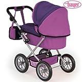 Puppenwagen-Trendy-in-Lila-Design-68-cm-Schiebehhe-fr-Puppen-bis-46-cm