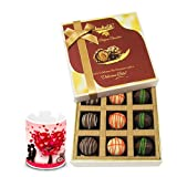 Heavenly Combination Of Truffles With Love Mug - Chocholik Luxury Chocolates