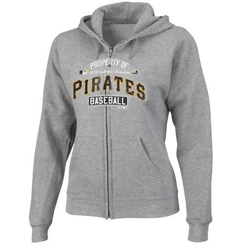 MLB Pittsburgh Pirates Women's Property Of Fleece, Small, Steel Heather