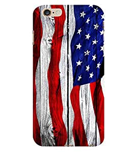 Fiobs USA Flag Wood Look American Flag Phone Back Case Cover for Apple iPhone 6s