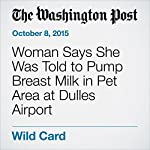 Woman Says She Was Told to Pump Breast Milk in Pet Area at Dulles Airport | Dana Hedgpeth