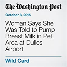 Woman Says She Was Told to Pump Breast Milk in Pet Area at Dulles Airport (       UNABRIDGED) by Dana Hedgpeth Narrated by Sam Scholl
