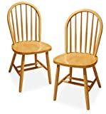 Winsome Wood Windsor Chair, Natural, Set of 2