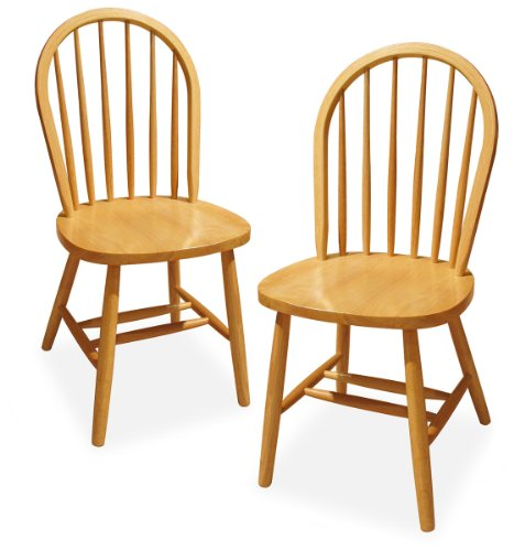 Winsome Wood Windsor Chair Natural Set Of 2