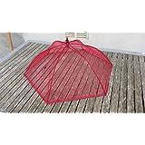 Cloche parapluie EMA 6 baleines - 50 CM de diametre - Food cover - Garde manger protege plat ronde 50cm Tulle elastane BORDEAU