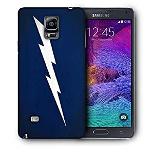 Snoogg White Lightning Vector Printed Protective Phone Back Case Cover For Samsung Galaxy NOTE 4 / NOTE IIII