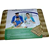 Large & Small Bamboo Cutting Boards by VitaVersa- Best 2-Piece Wooden Board Set for Cheese & Bread Platter, Veggies, Fish & Meat Prep- A Thick Wood Chopping Block and Serving Tray- Makes a Star Gift