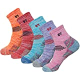 5pack Women Mid Cushion Low Hiking/Camping/Performance Socks