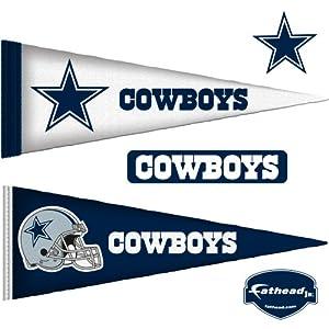 NFL Dallas Cowboys Junior Logo Pennants Wall Graphic by Fathead