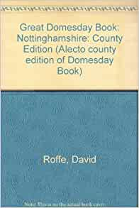 Amazon.fr - Great Domesday Book: Nottinghamshire: County