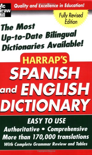 Harrap'S Spanish And English Dictionary (Harrap'S Dictionaries) front-1034931