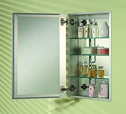 "Afina MB008277T Broadway Single Door Frameless Medicine Cabinet Size: 30"" x 15"", Edge Type: Beveled"