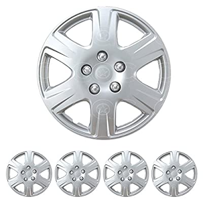 "4 PC Set 15"" Silver Hubcaps Wheel Cover OEM Replacement Skin Cover Durable ABS"