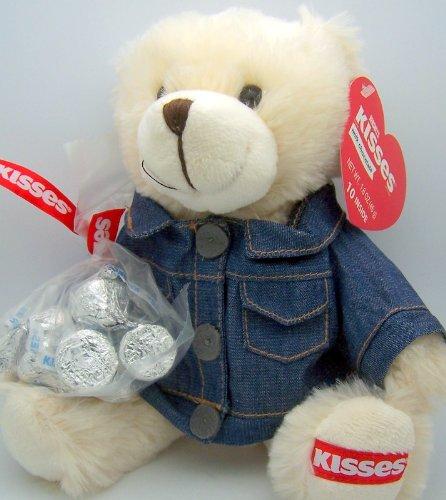 Hershey Kiss Kisses Plush Bear  Jean Jacket and