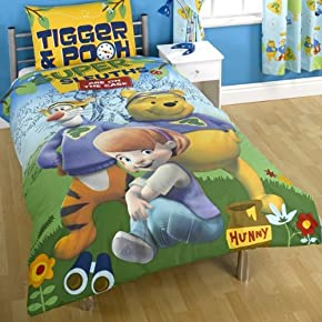 Kids/Childrens Disney My Friends Tigger and Pooh Bedding Duvet/Quilt Cover Set