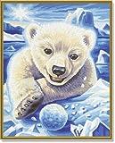 Colour by Numbers Little Polar Bear