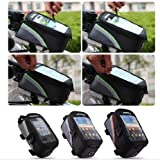 Panlong Roswheel Cycling Bicycle Bike Front Tube Top Tube Cell Phone Bag Frame Bag Phone Holder for iPhone Samsung HTC Nokia and other Smartphones