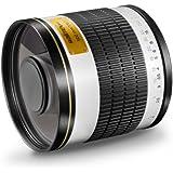 Walimex Pro 500mm 1:6,3 CSC Spiegel-Teleobjektiv (Filtergewinde 34mm) für Sony E Objektivbajonett weiß