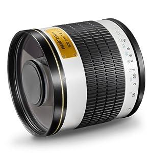Walimex Pro 500mm 1:6,3 DSLR Spiegel-Teleobjektiv (Filtergewinde 34mm) für Sigma Objektivbajonett weiß