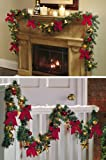 Collections Etc – Jingle Bells Holiday Lighted Christmas Garland By Collections Etc image