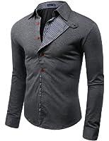 Herrenhemd Casual-Style Karo-Muster Smokinghemd (W04S)
