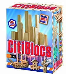 Citiblocs Natural Colors Precision Cut Building Blocks (200 Piece)