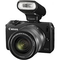 Canon EOS M 18.0 MP Compact Systems Mirrorless Camera with EF-M18-55mm IS STM Lens and Speedlite 90EX Flash (Import)