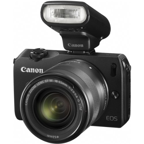 51Cx6re7f7L Canon EOS M 18.0 MP Compact Systems Mirrorless Camera with EF M18 55mm IS STM Lens and Speedlite 90EX Flash (Import)