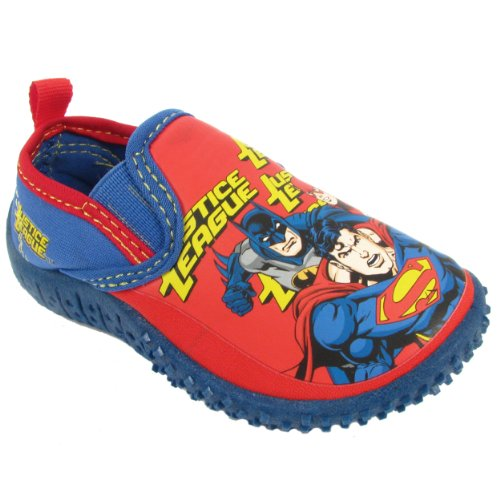 Marvel Justice League Water Shoe Boys' Toddler Slip On 9 M Us Toddler Red-Blue front-832831