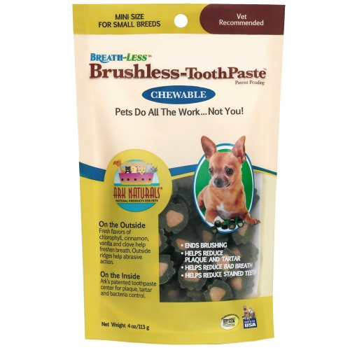 ARK-Naturals-PRODUCTS-for-PETS-326066-4-Ounce-Breath-Less-Chewable-Brushless-Toothpaste-Mini