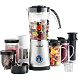 VonShef 4 in 1 Multifunctional Silver 1 Litre Smoothie Maker, Free 2 Year Warranty - 1.5 Litre Blender, Juicer, Mugs & Grinder