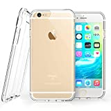 iPhone 6S Case, Clear By Caseflex® [Reinforced Edges] TPU Gel [with Precision Port Cut-Outs & Button Moulds] Fits iPhone 6s / iPhone 6