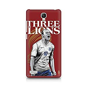 Ebby The Three Lions Premium Printed Case For Xiaomi Redmi Note
