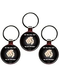 You Are Awesome Quote Metal Key Chain Set Of 3