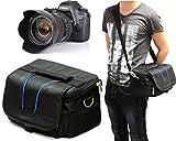Navitech London SONY 4Kビデオカメラ Handycam FDR-AXP35 ブラック 光学10倍 FDR-AXP35-B 用カメラバック