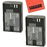 Baterías BM Premium de LP-E6, LP-E6N para Canon EOS 60D, EOS 70D, EOS 5D II, EOS 5D III, EOS 5Ds, EOS 6D EOS 7D, EOS 7D Mark II y cámaras digitales SLR paquete de 2 unidades