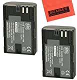 Pack Of 2 LP-E6 Replacement Batteries For Canon EOS 60D EOS 70D EOS 5D II EOS 5D III EOS 6D EOS 7D Digital SLR Camera + More!! (2600mAh)