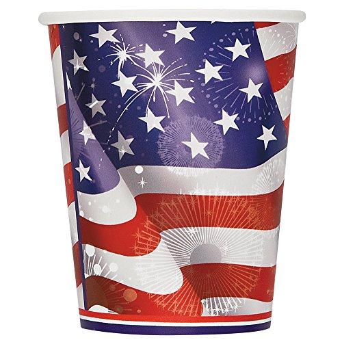 9oz Old Glory Patriotic Paper Cups, 8ct