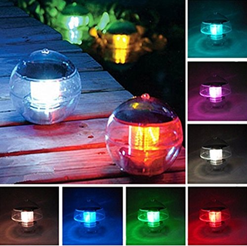 Solar floating pool light,Solar Powered LED Night Light Lamp ball for Swimming Pool & Patio,Garden and Party Decor Outdoor Waterproof Pond Path Landscape lights,Charges also On Cloudy Days Colorful