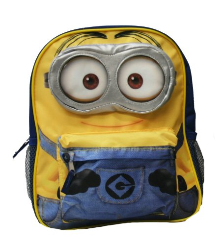 Despicable-Me-2-Big-Face-Minion-12-School-Backpack-Jerry-3d-Eye-Pocket