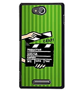 Fuson 2D Printed Designer back case cover for Sony Xperia C - D4269