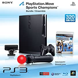 Sony Playstation 3 Move 320 GB Sports Champions Bundle