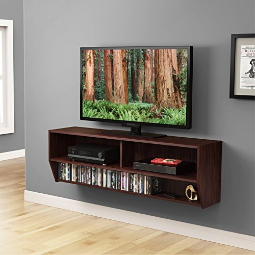 Fitueyes Wall Mounted Audio/Video Console wood grain for xbox one /PS4/ vizio/ Sumsung/sony TV.DS212301WB (Console Wall Table compare prices)