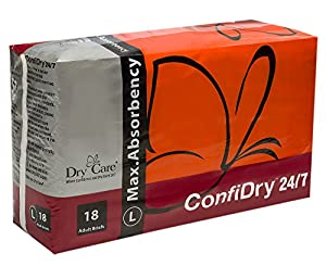 Dry Care® ConfiDry 24/7 Max Absorbency Adult Brief Diapers, Large Size