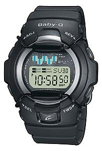 Casio - BG-1001-1VER - Montre Baby -G -Résine - Quartz Digitale - Multifonctions -Sport - Chrono - Timer - Alarme Fuseaux Horaires - Bracelet Caoutchouc Noir