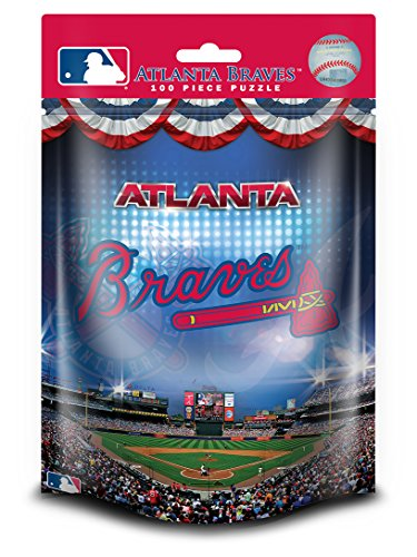 Masterpieces Atlanta Braves Pouch Puzzle (100-Piece)