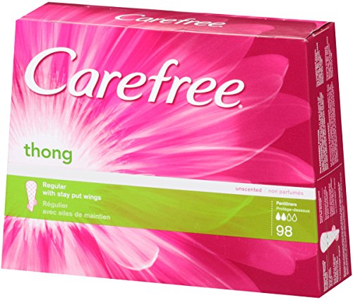 Carefree Thong Pantiliners Regular Protection Unscented