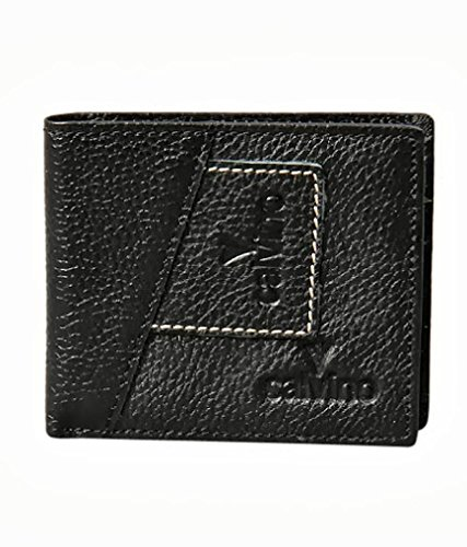 Calvino Calvino Rugged Contrast Stitch Black Men's Wallet