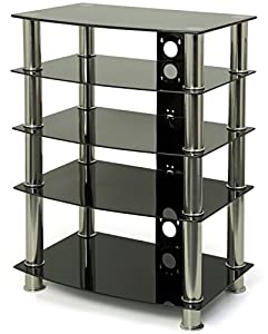 Cheap  Glass Hi-Fi/TV Stand